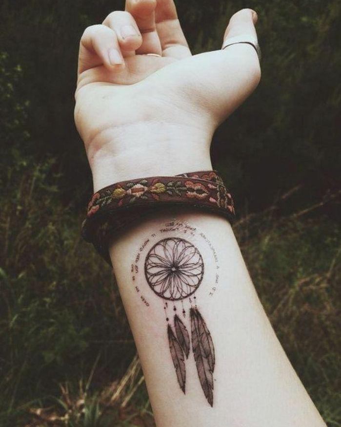 ▷ 1001 + idées de tatouage attrape-rêve symbolique | tattoo