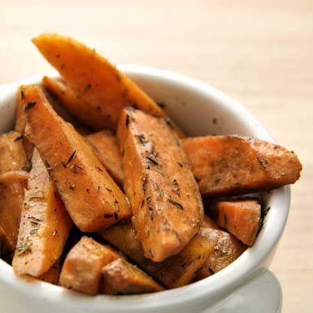 baked rosemary sweet potato wedges