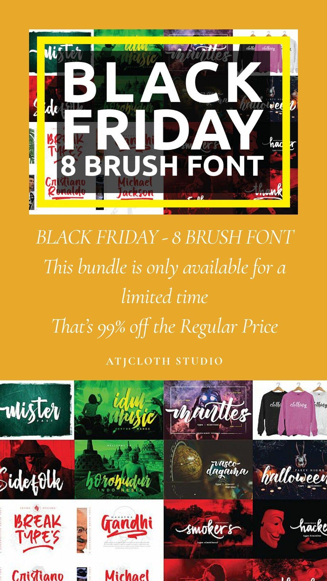 04. MINI BUNDLE 8 mix fonts Brush font, Cool fonts