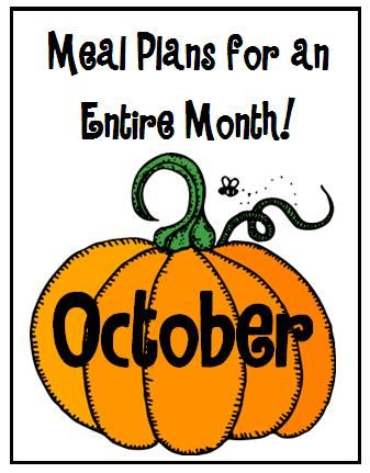October Meal Plan Meals, Recipes and Food