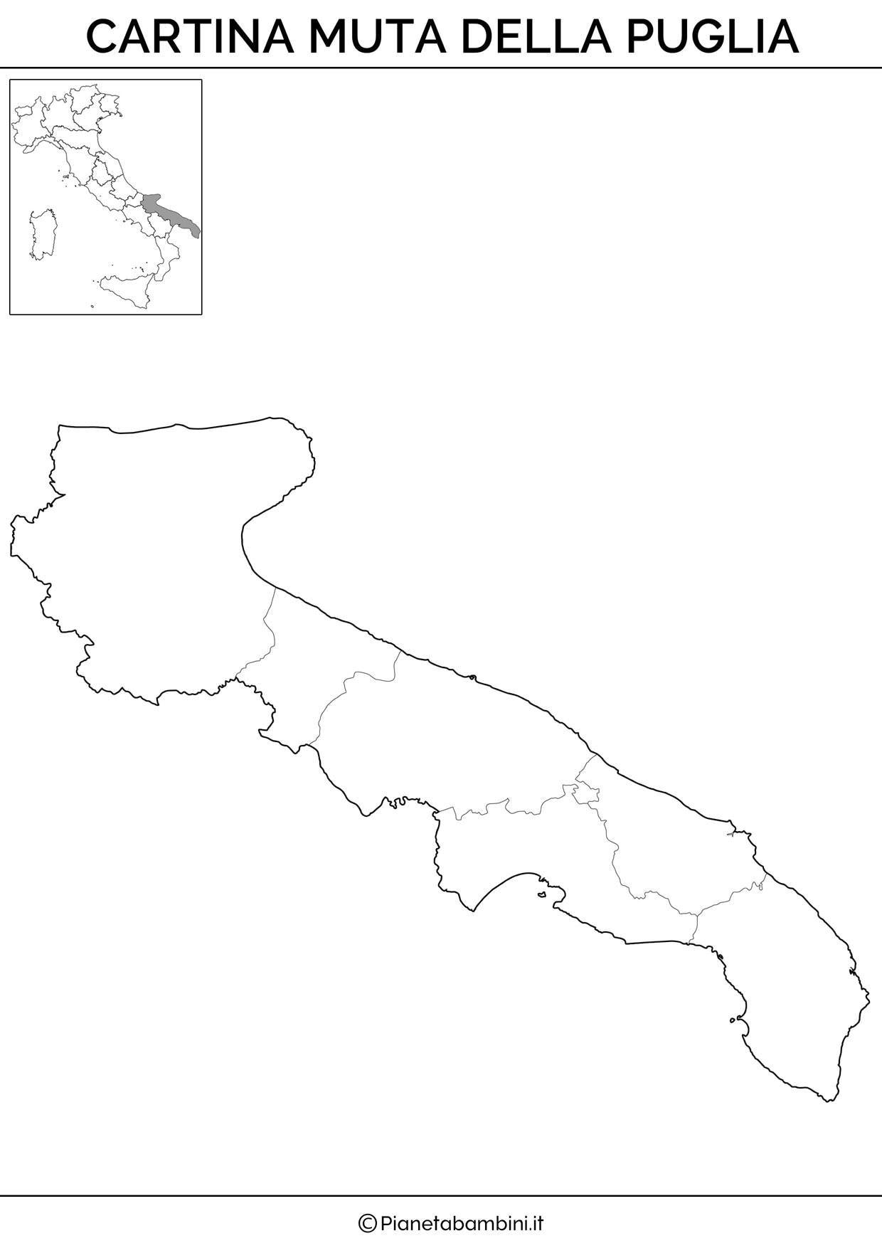 Cartina Muta Delle Marche Da Stampare.Cartina Muta Fisica E Politica Della Puglia Da Stampare Lezioni