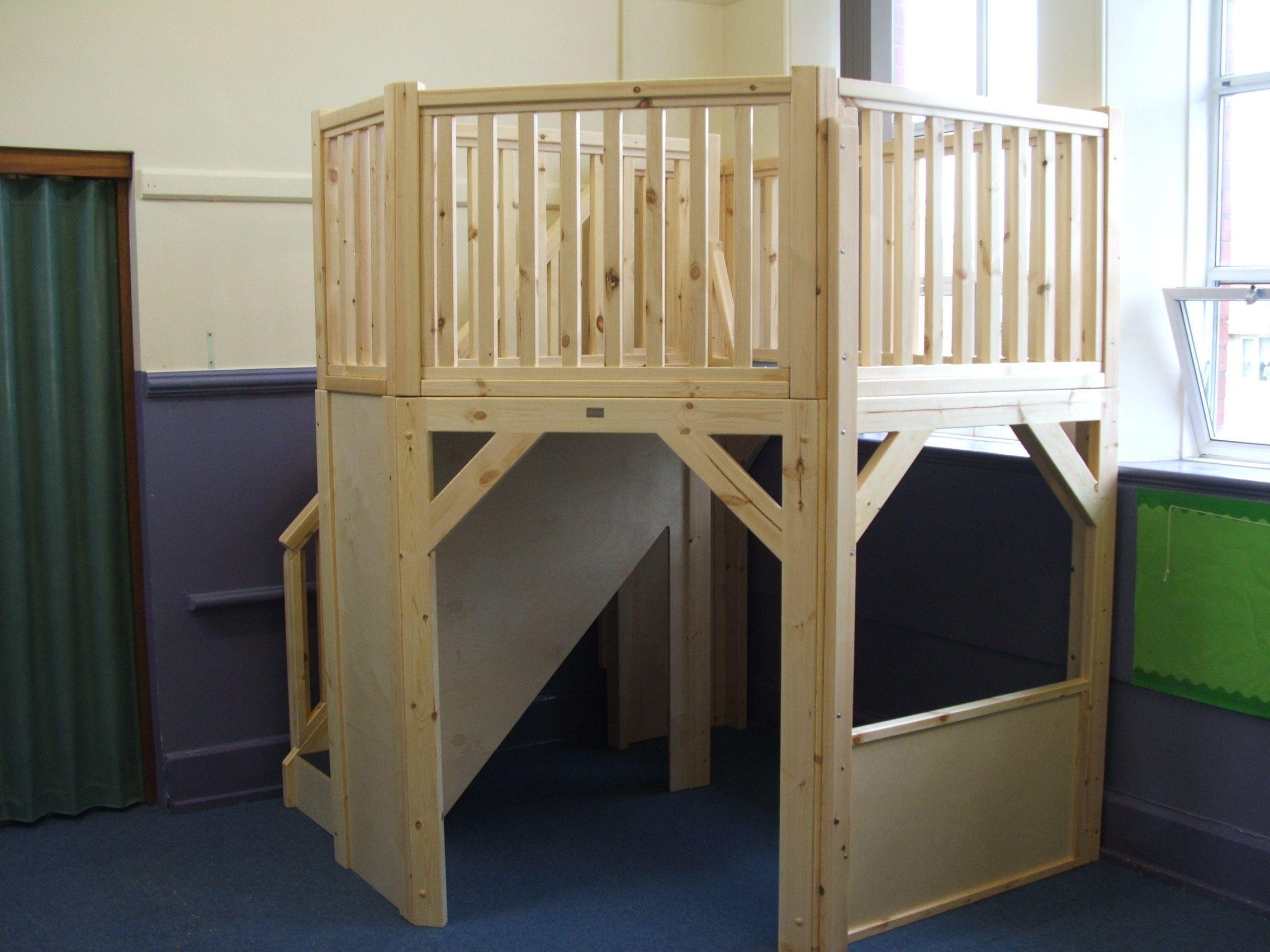 Classroom Loft Ideas ~ A bespoke corner classroom loft teacher stuff