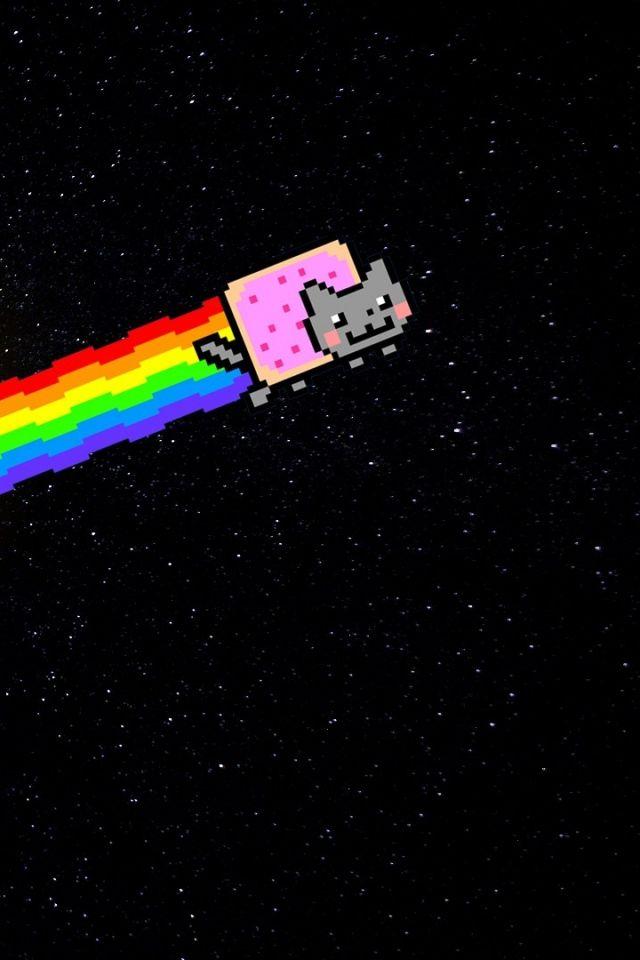 Nyan Cat Iphone Wallpaper Wallpapersafari Nyan Cat Cat