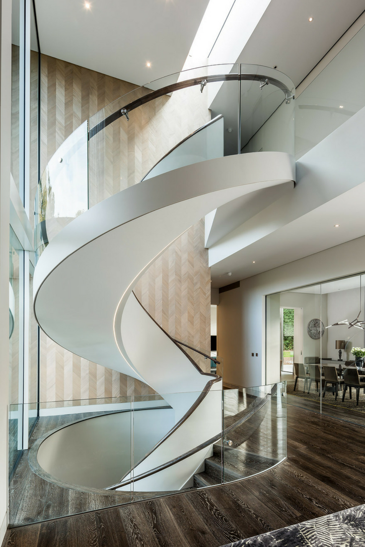 A Beautiful Helical Staircase For A Luxury Home In London
