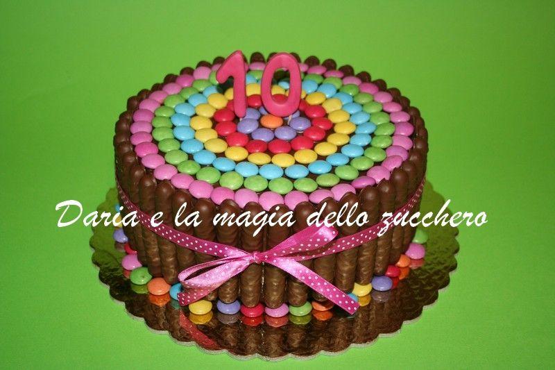 Torte bambini ~ Torta smarties smarties cake children cakes torte bambini