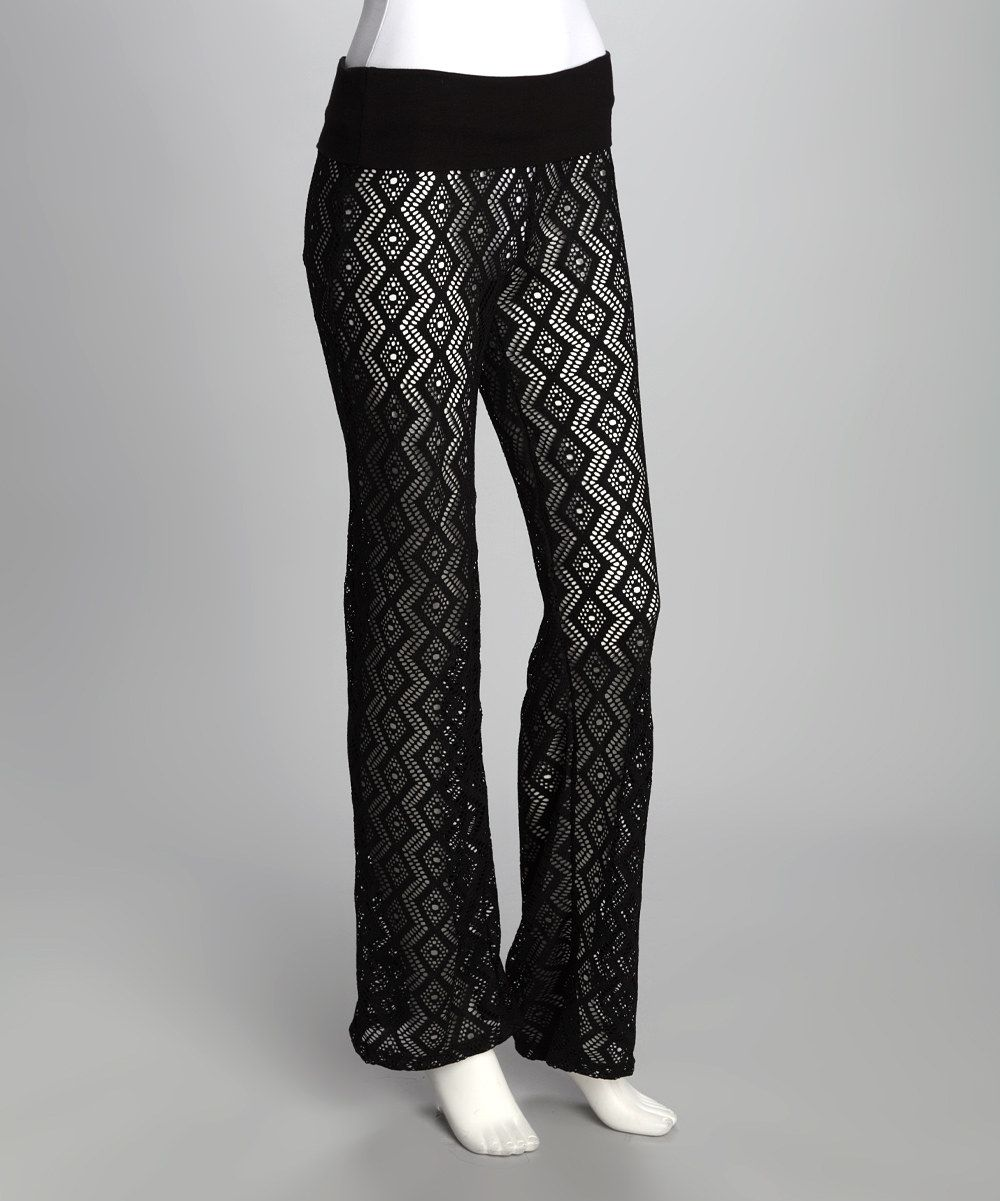 Take a look at this la class black diamond sheer pants on zulily