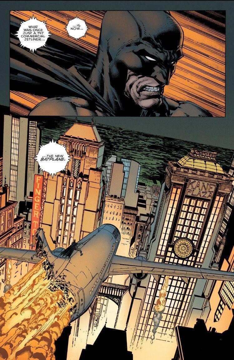 Batman riding a crashing plane through the skies of Gotham? Yes, I ...