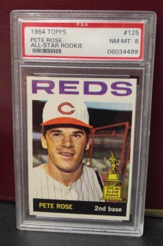 1964 Topps Pete Rose Psa 8 Baseball Card Cincinnati Reds 125