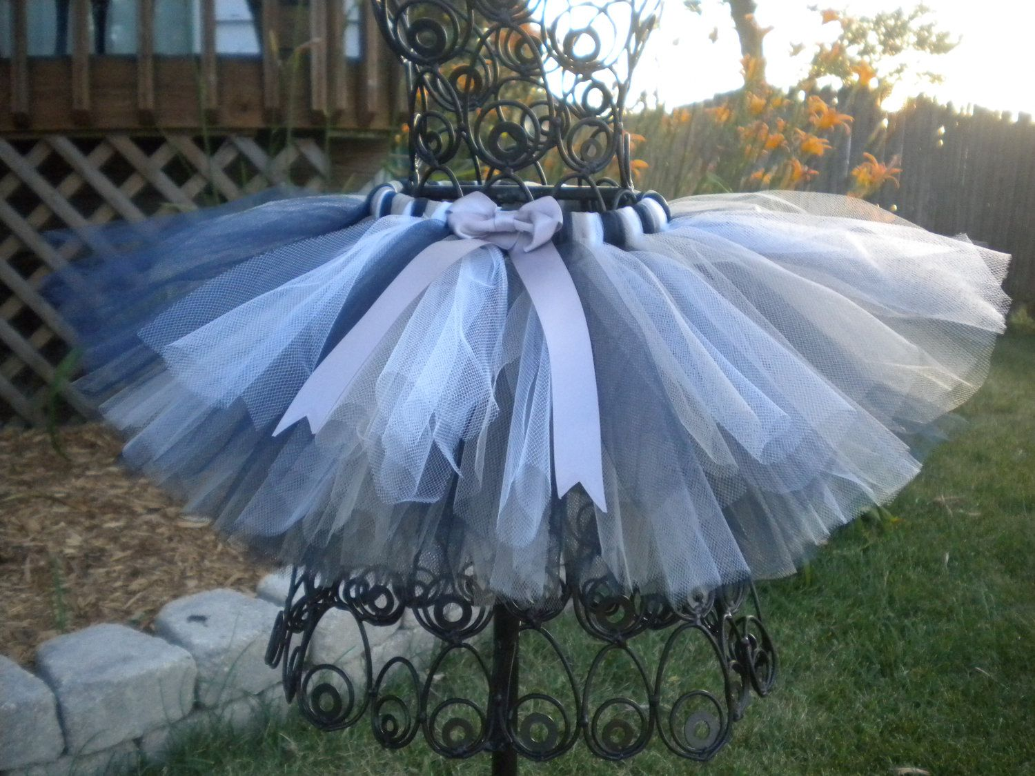 Custom Sports Tutu New York Yankees Colors Navy Silver White Can Do Most Team Tutus For Babies And Toddlers