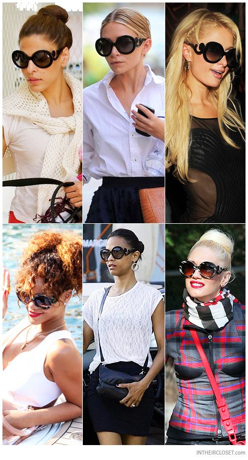 3939d08815b Celebs wearing my new sunnies! Prada Minimal Baroque Sunglasses ...