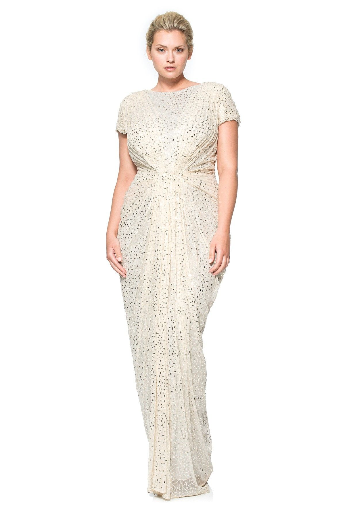 Red Carpet Sequin Gown in Venice | Tadashi Shoji | Plus Size Wedding ...