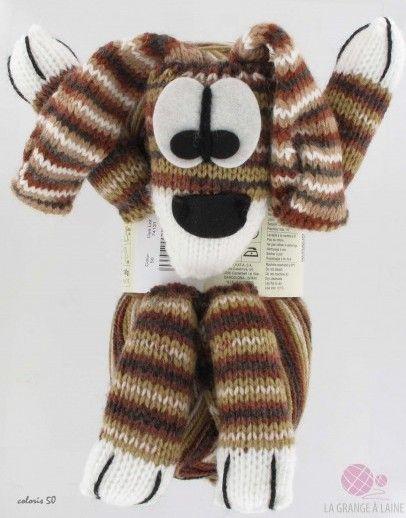 52e265c6488 Katia Kit pour écharpe enfant - Dog Scarf   Katia Dog Scarf est un kit qui