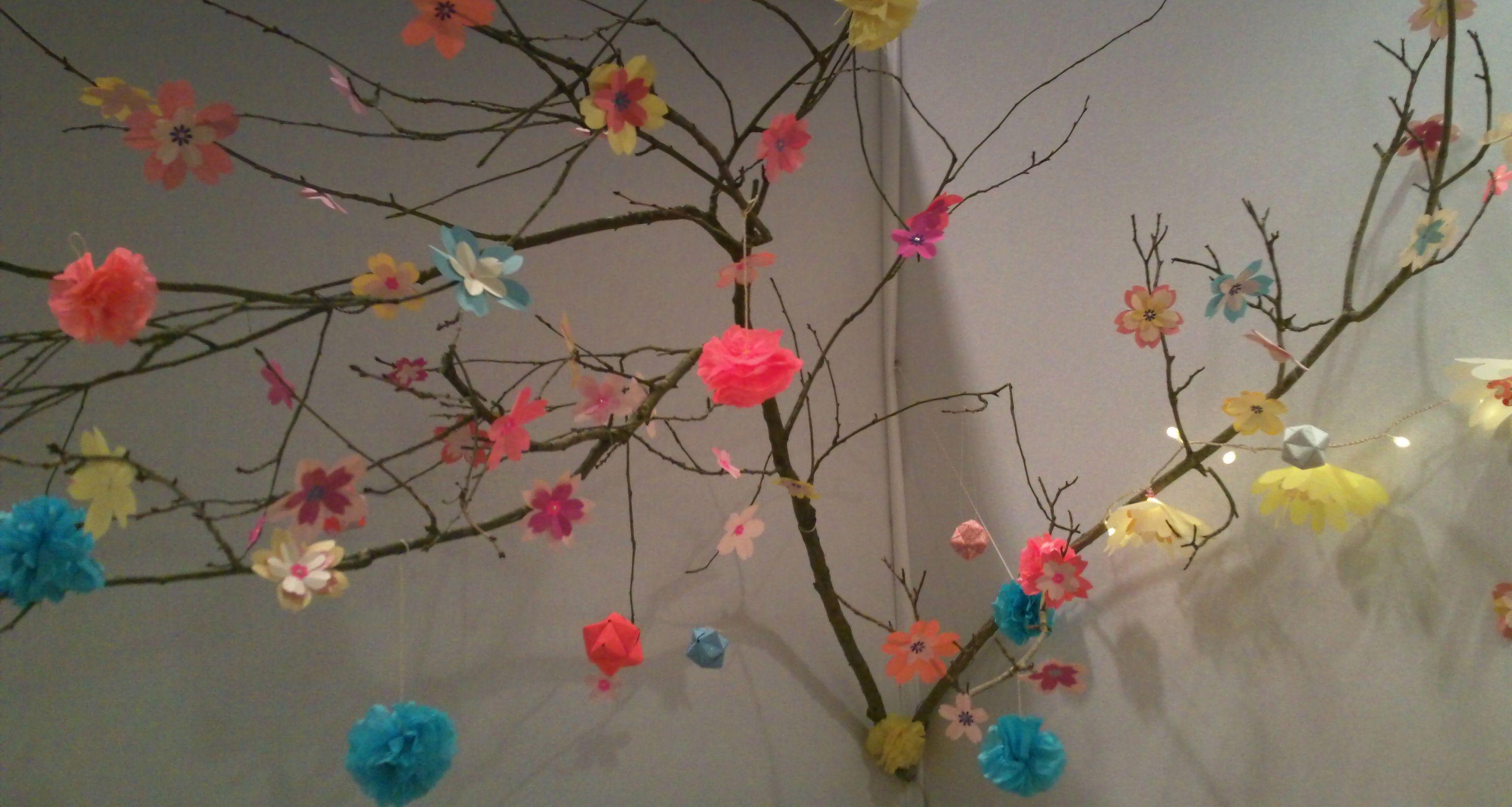 Diy etoiles et fleurs en origami d 39 adeline klam adeline klam fleur de cerisier et cerisier - Comment faire fuir les oiseaux des cerisiers ...