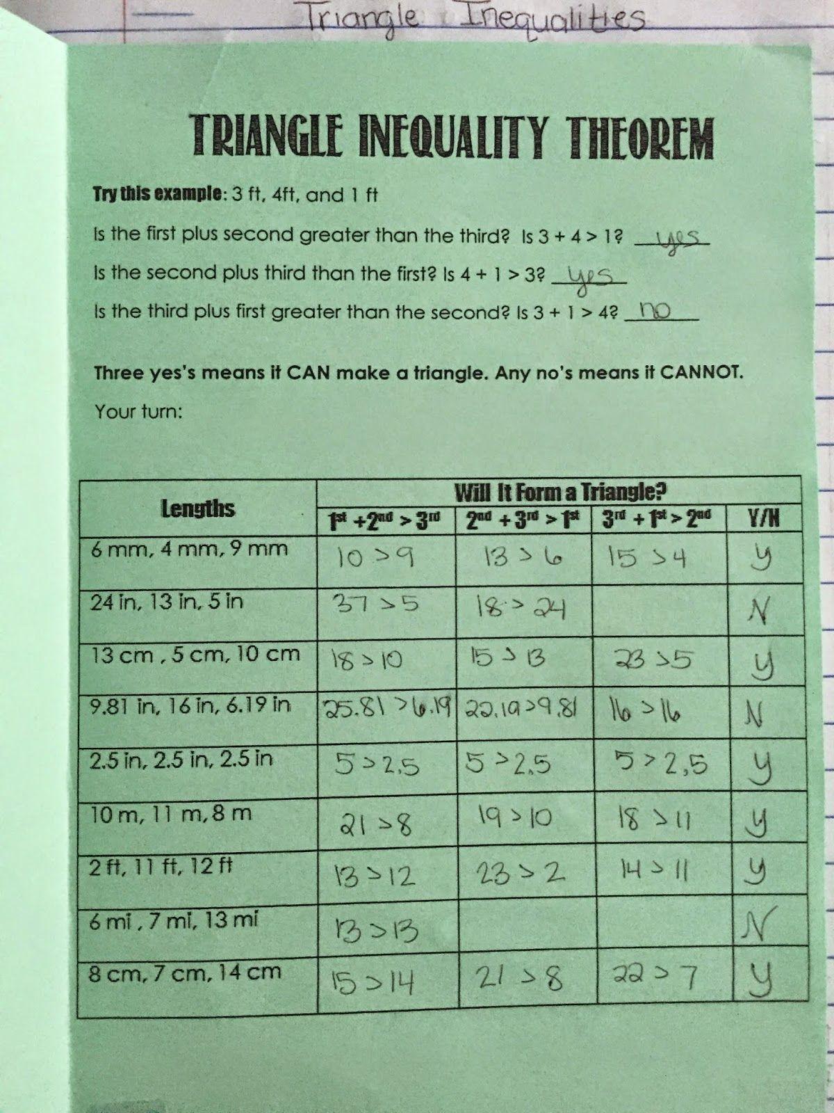 Misscalcul8 Geometry Unit 4 Triangles Interactive