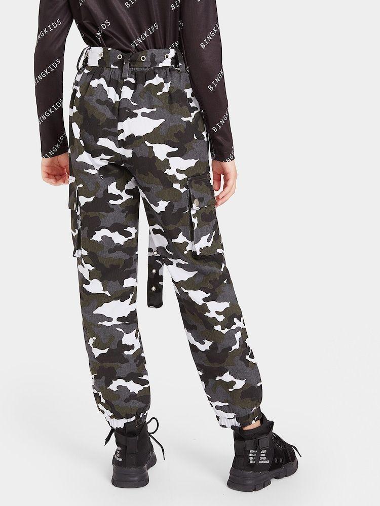 Girls Camo Flap Pocket Side Cargo Pants Mit Bildern Madchen Sachen Madchen