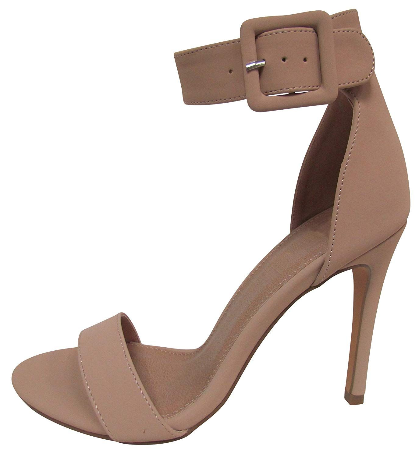 96a04740cb955 Cambridge Select Women's Open Toe Single Band Thick Buckled Ankle ...