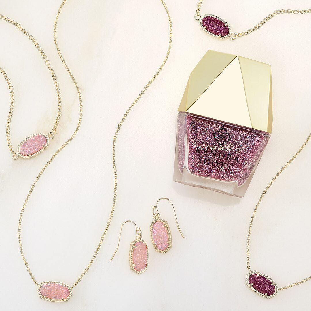 Introducing Light Pink And Fuchsia Drusy And Our New Pink Drusy Nail Lacquer Fashion Jewelry Jewelry Light Pink Nails