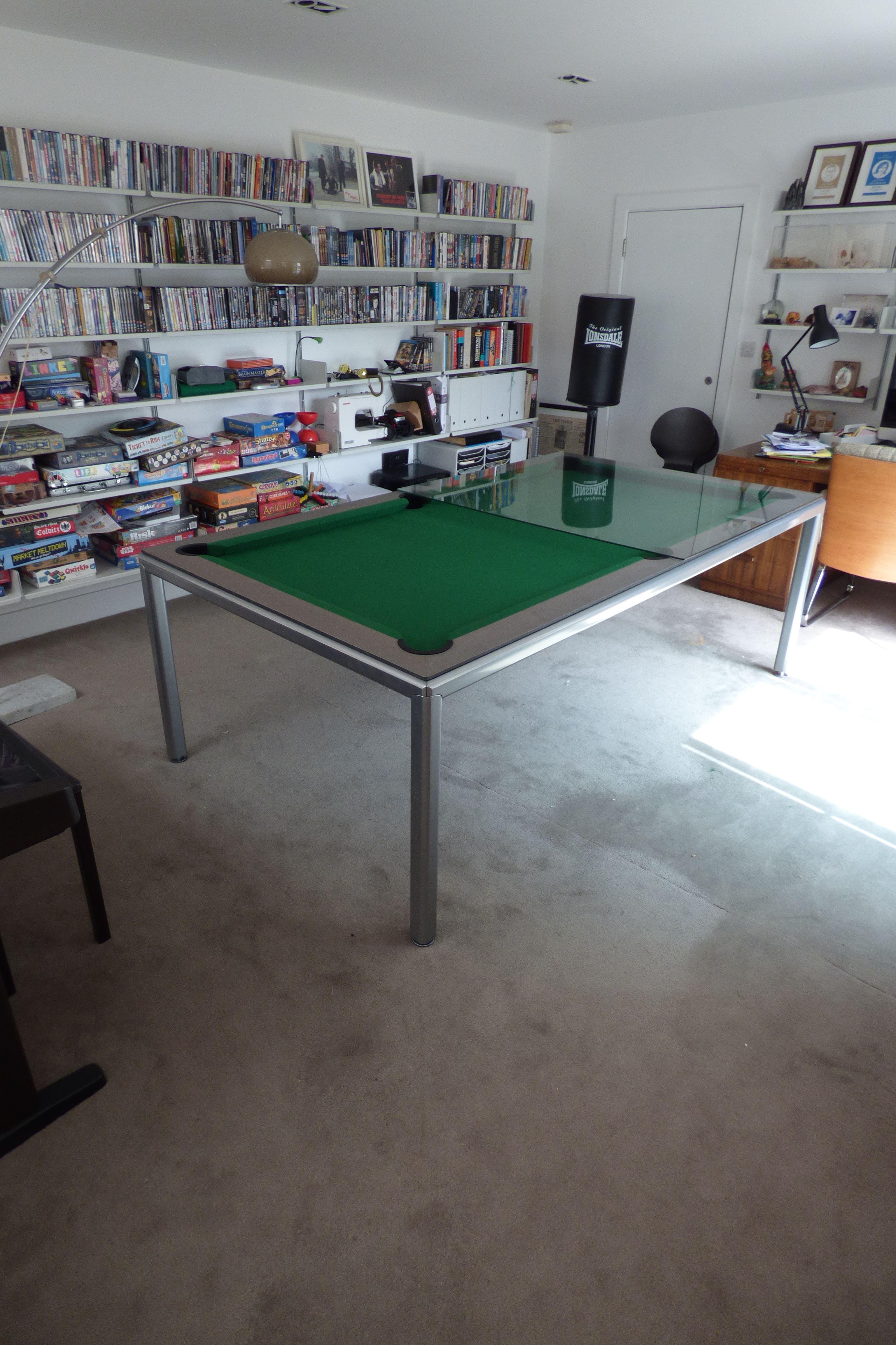 Slimline Pool Table | Pool table dining table, Custom pool ...