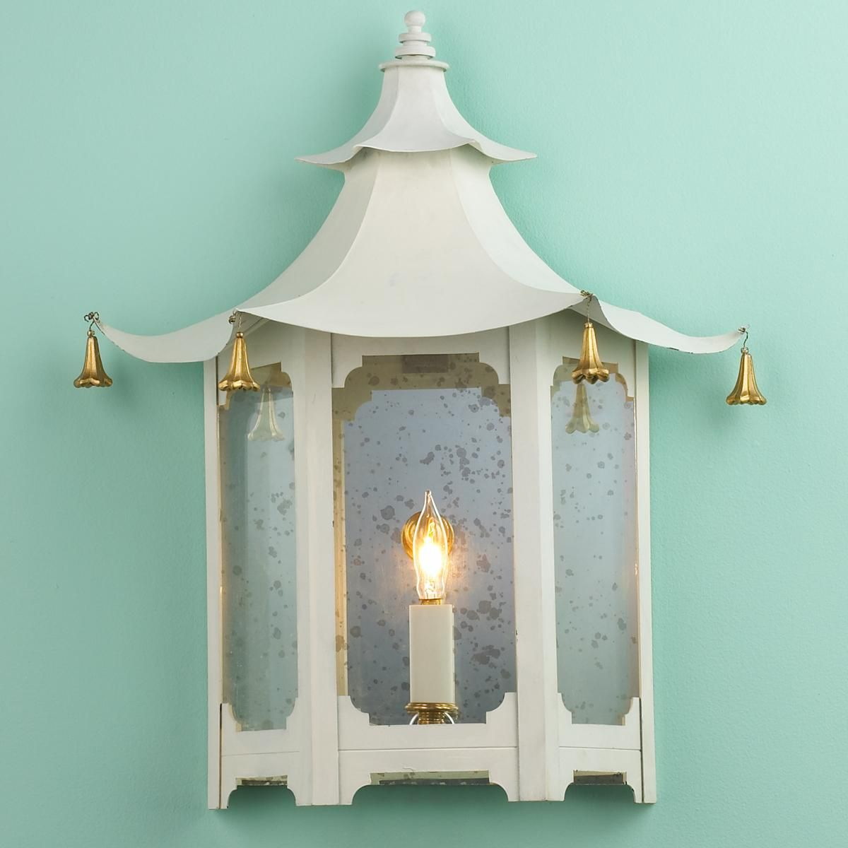 Bathroom Sconce Inspiration (Shades of Light- Vintage Pagoda Sconce ...