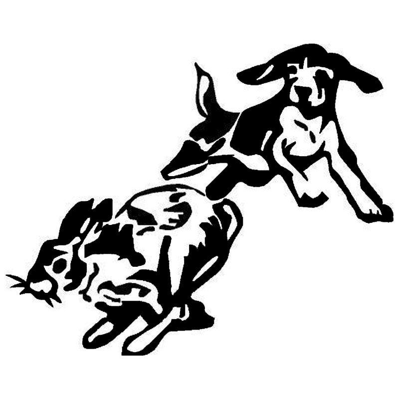 CM Beagle Chase Tavşan Köpek Avcılık Araba Vücut - Sporting dog decals