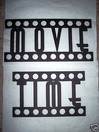 Home Theater Decor MOVIE TIME Words Film Font Metal Wall Art