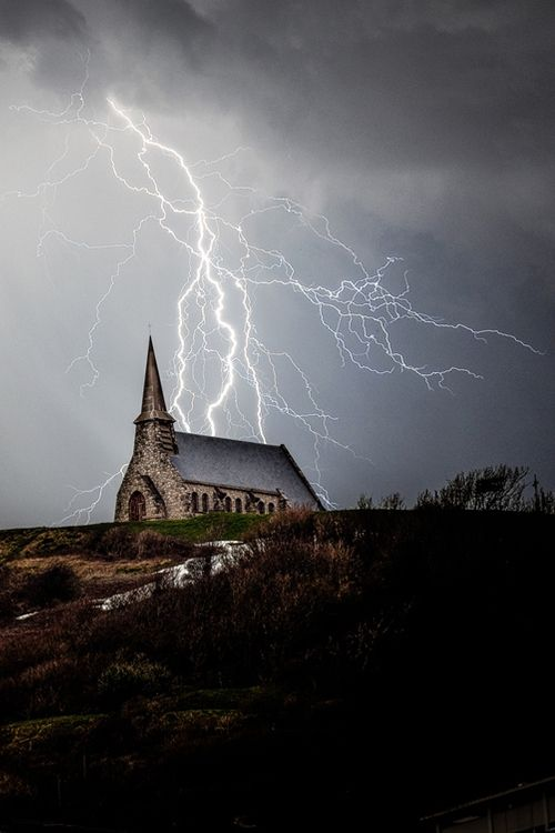 Image result for church lightning