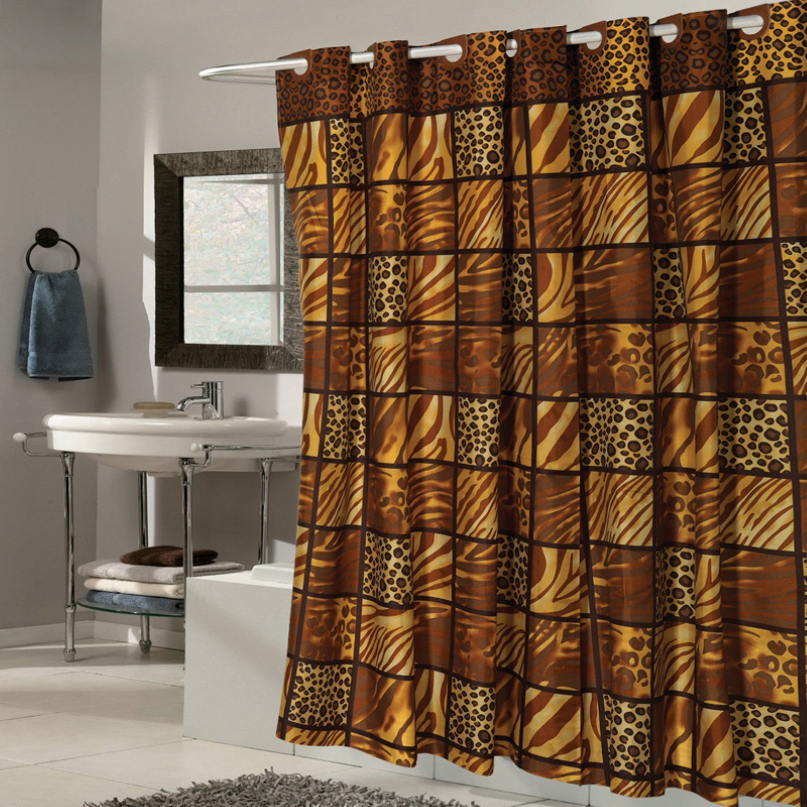 Sweet Home Collection Ez On Hookless Wild Encounter Animal Print
