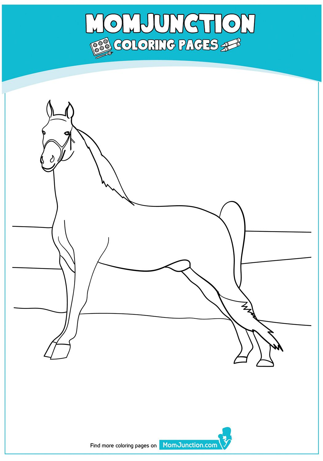 Tennessee Walking Horses 17 Horse Coloring Pages Coloring Books Coloring Pages