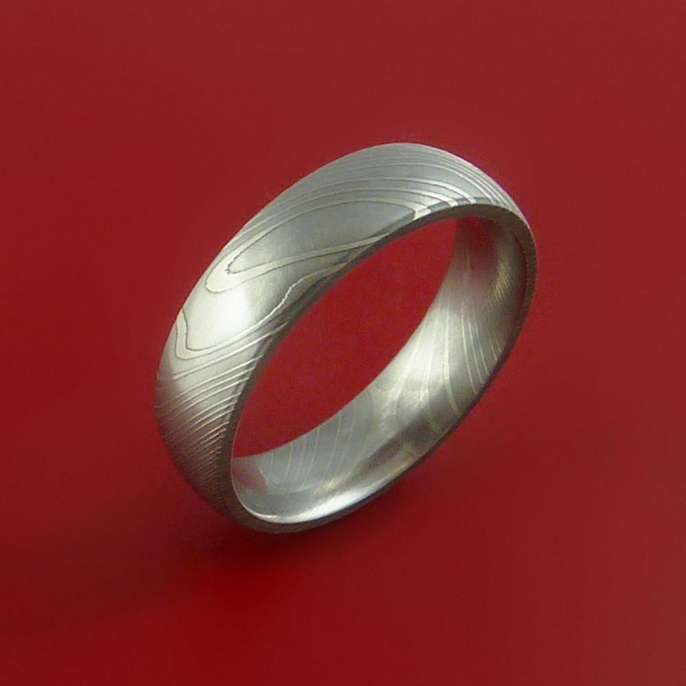 Damascus Steel Ring Custom Made Band Damascus Steel Ring Damascus Steel Ring Wedding Steel Wedding Bands