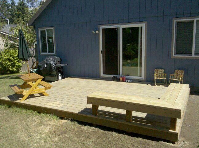 Built In Deck Benches | Built In Deck Bench Finished Deck Back