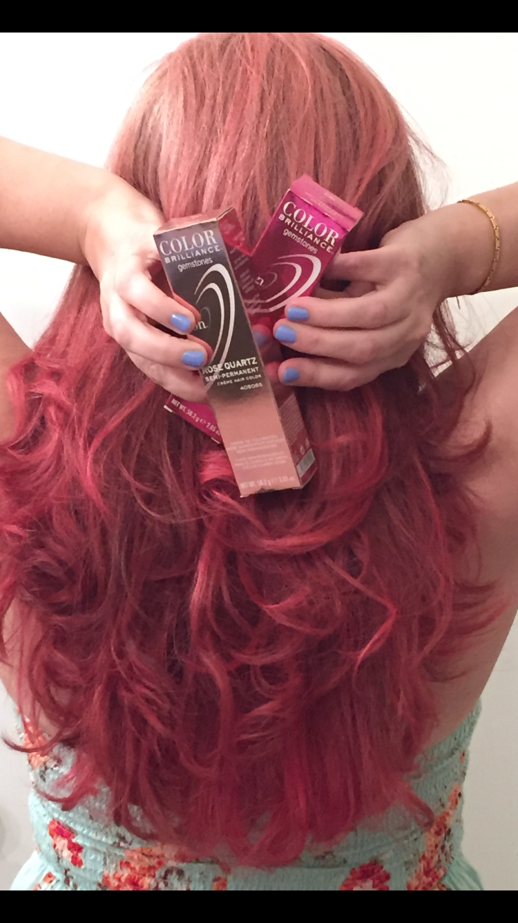 Loving how #rosequartz & #garnet haircolor from Sally's ...