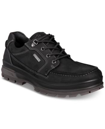 b75293ee5d4c4 Ecco Men's Rugged Track Gtx Moc Toe Waterproof Leather Oxfords - Black 42