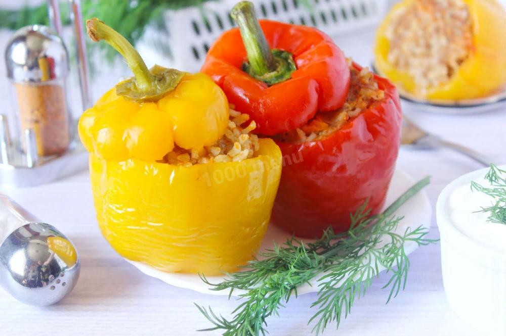 Перцы фаршированные мясом и рисом в мультиварке рецепт с ...