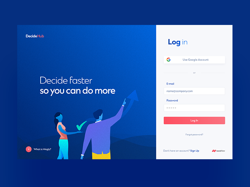 DecideHub / Log In | Web Design | Login page design, Login
