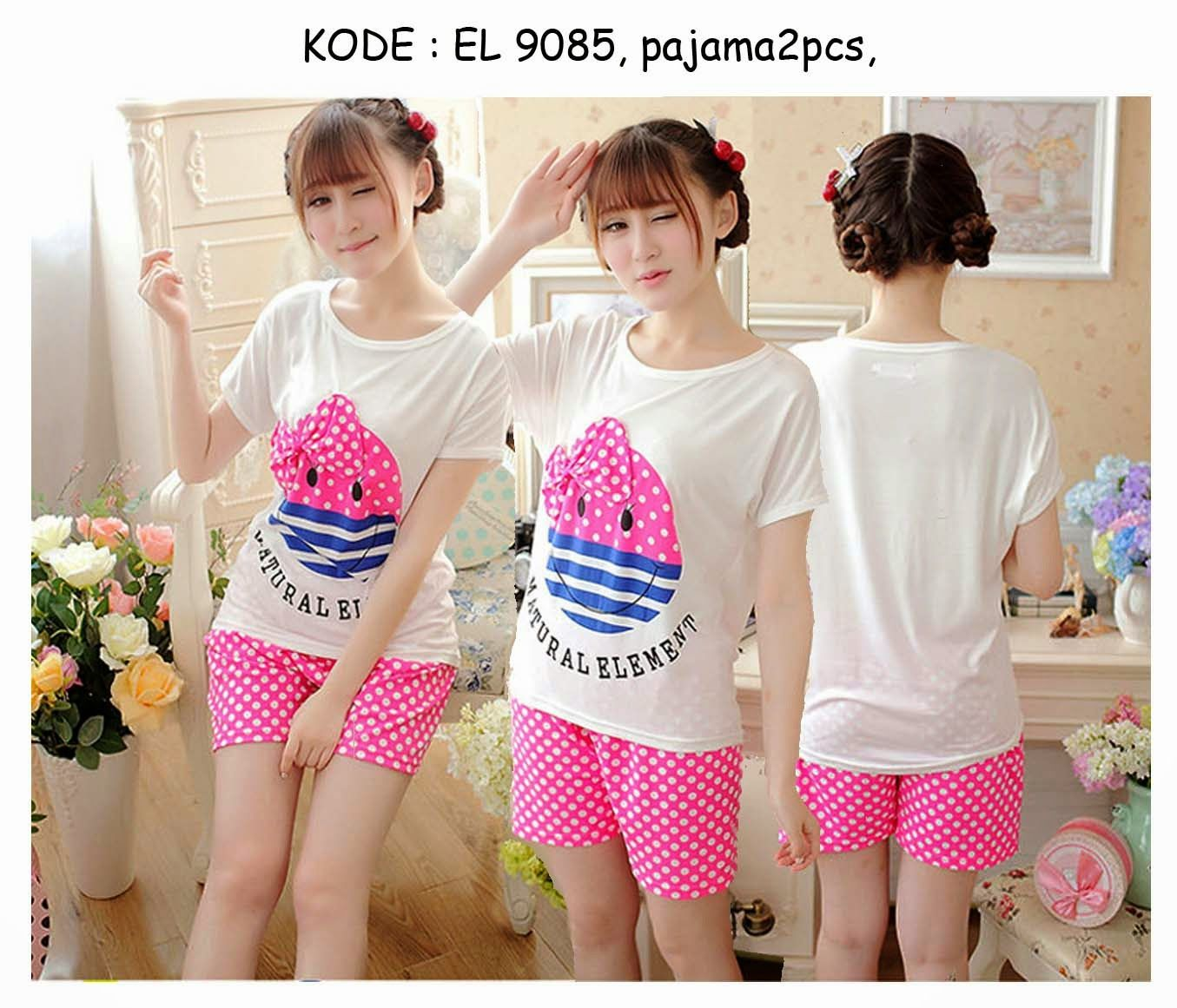 9085 90rb Jual Baju Tidur Pajamas Short Pants And Sleeve
