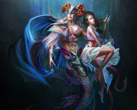 Fantasy Couple Desktop Nexus Wallpapers Fantasy Couples Capricorn Art Horoscope Art