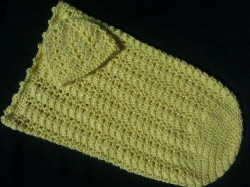 Sunshine And Shells Baby Cocoon Hat Set Free Pattern Crochet