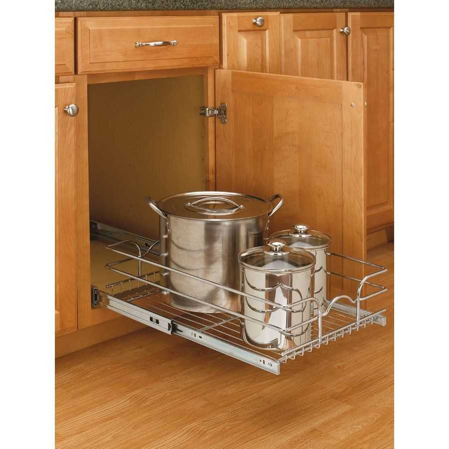 A Shelf 58 15c 5 Chrome Pull Out Basket