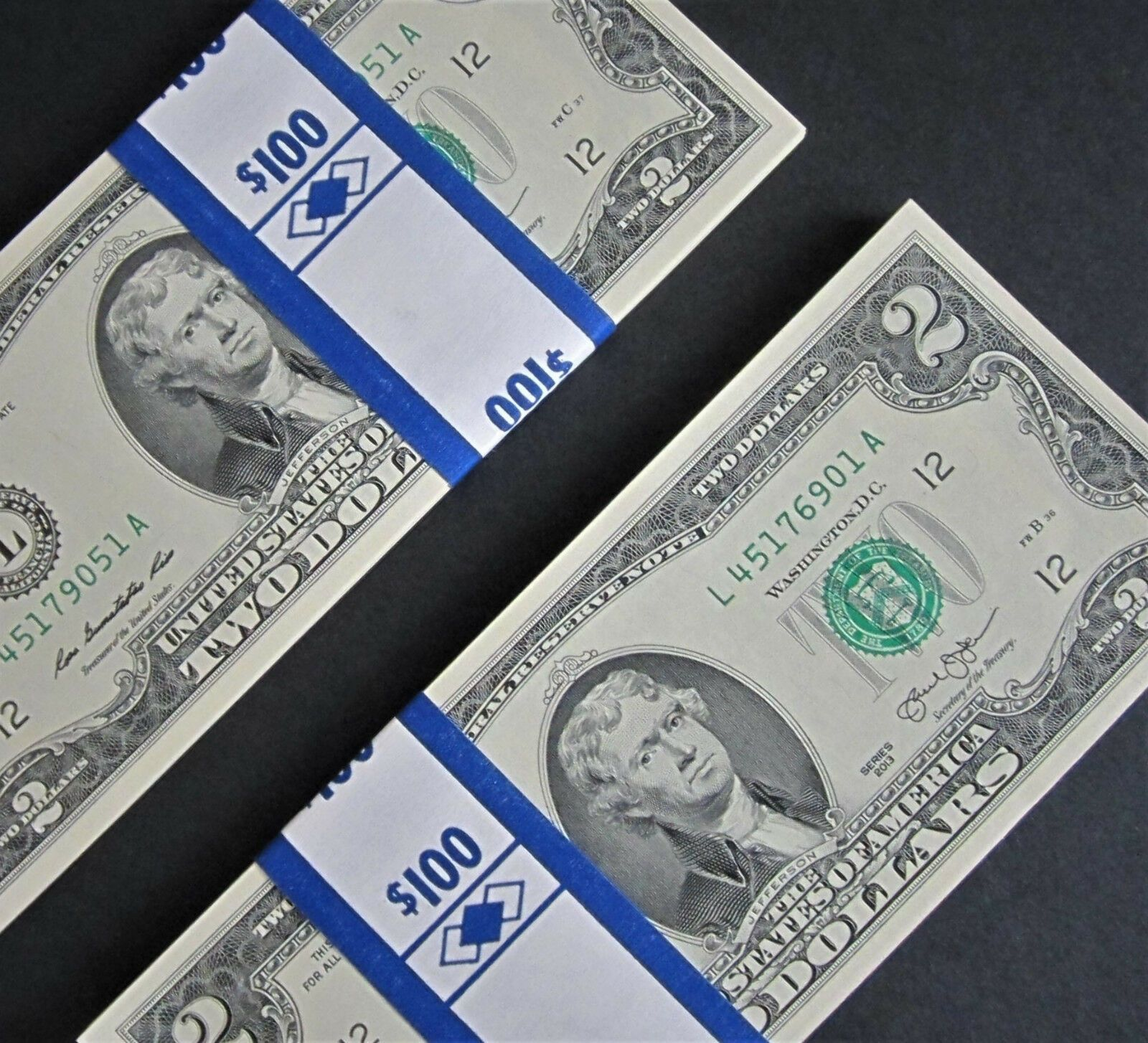 """1 2013 /"""" MINNEAPOLIS /"""" Consecutive Uncirculated Two Dollar Bill $2 Note"""