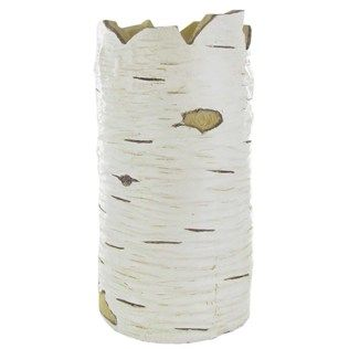 10 1 2 White Polyresin Birch Look Container Container Shop Art Craft Store Camping Theme Room