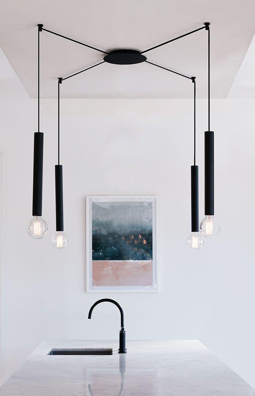 The beacon lighting zinc 1 light long pendant in matte black the beacon lighting zinc 1 light long pendant in matte black aloadofball Gallery
