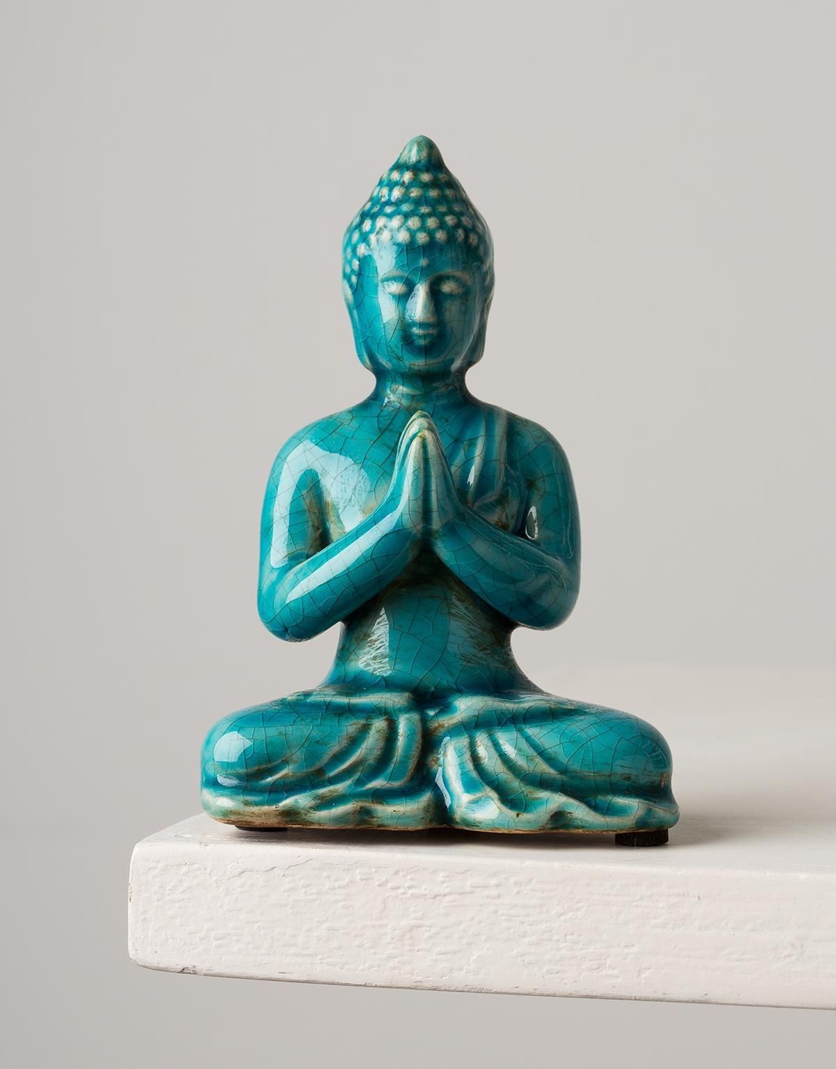 MINI SITTING BUDDHA Turquoise | Statues | Statues | Decoration | Home |  INDISKA Shop Online