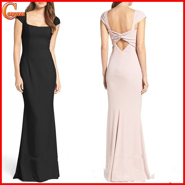 Hot selling new design cap sleeve prom dress 2017 manufacturer | My ...