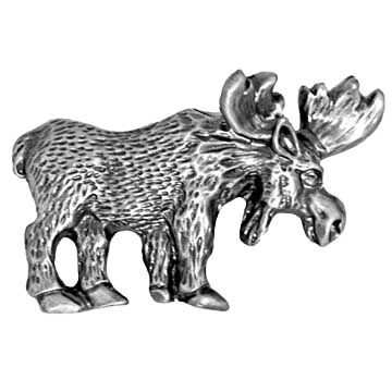 Moose Drawer Pull Antique Brass Rustic Cabinet Pull Antiques