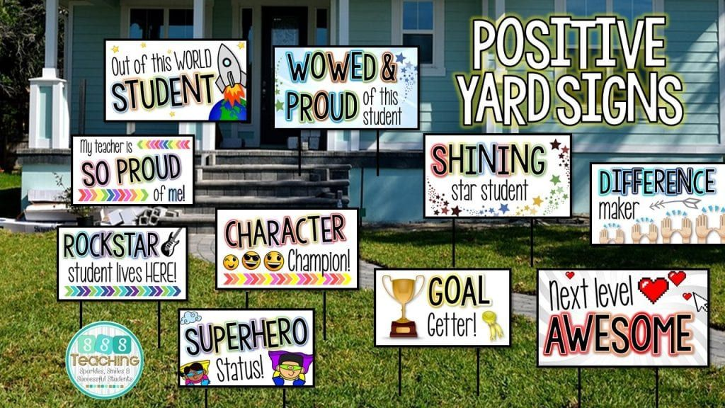 Show Off Your Students Easy Lawn Signs To Build School Community Sssteaching In 2020 Star Students Classroom Community School Yard Signs