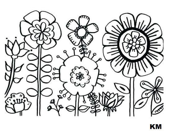 popular flowers coloring pages  malvorlagen frühling