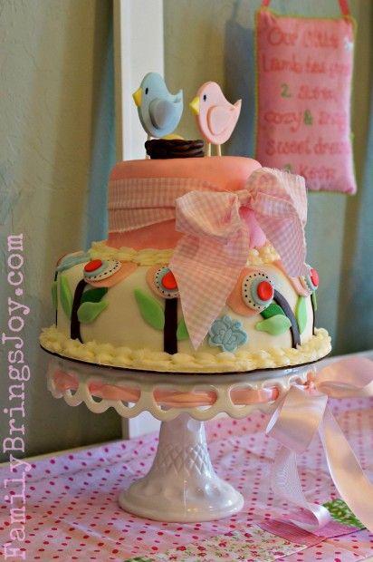 Baby Girl Cake Birds