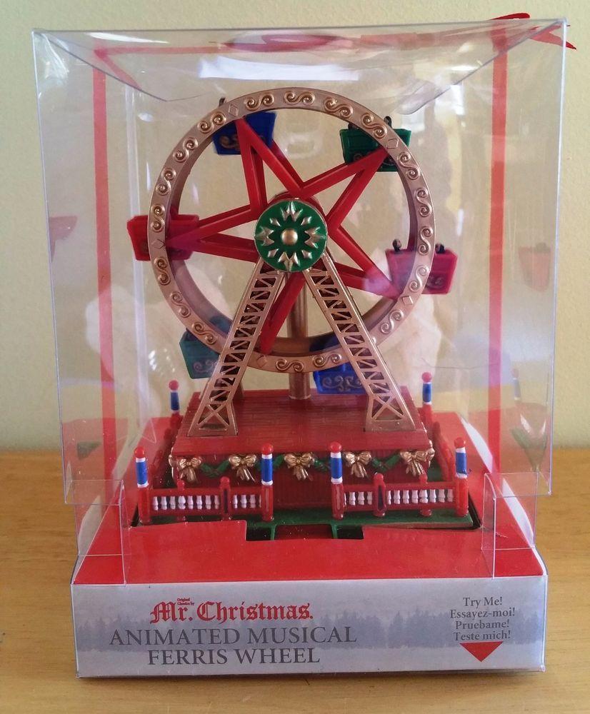 Christmas Ferris Wheel Music Box.Details About Mr Christmas Mini Carnival Animated Carousel