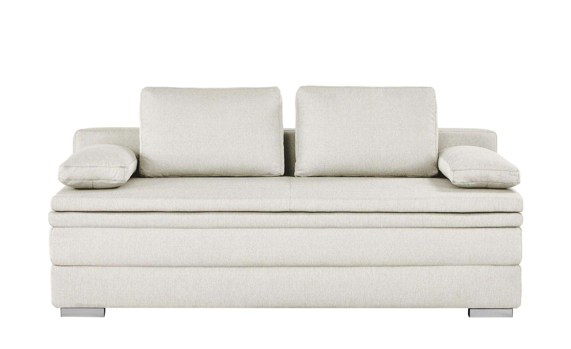 Smart Boxspring Schlafsofa Beige Webstoff Daphne Sofa Design