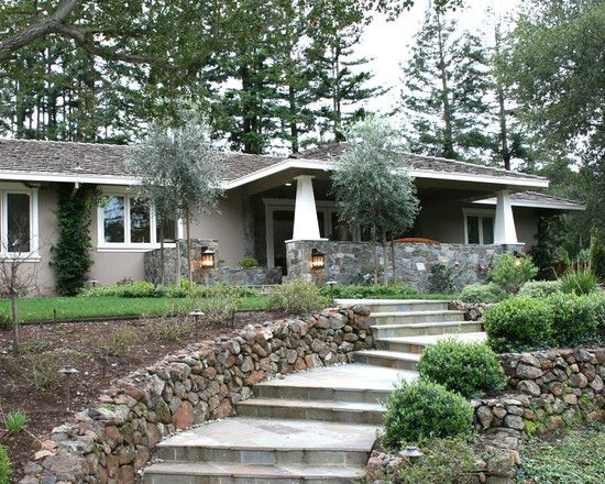 Stucco Exterior Ranch craftsman style ranch entry- stone stucco one storygreat way to
